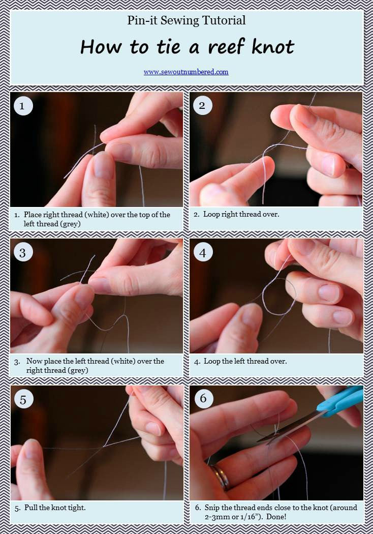 Tie a reef knot
