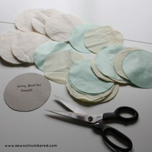 breast nursing pads circles cut
