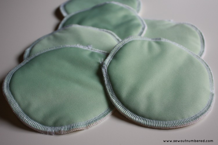 breast nursing pads finished