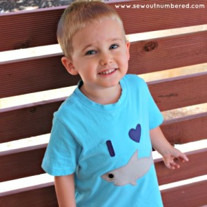shark applique boys tshirt 1