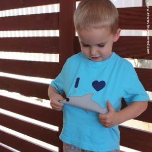 shark applique boys tshirt 2