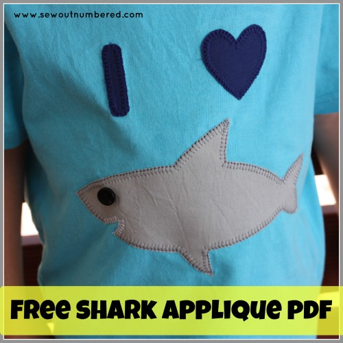 free shark applique template i heart sharks sew outnumbered