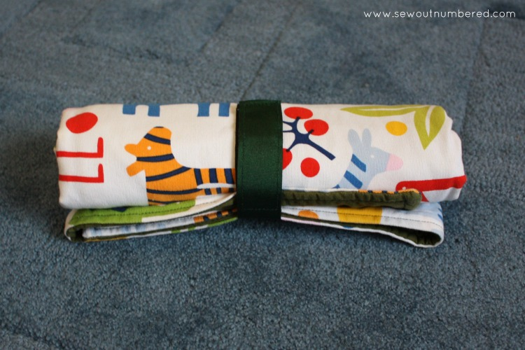 baby change mat rolled