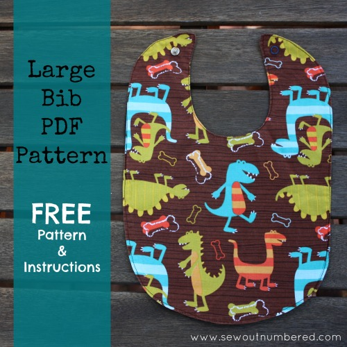 Sewing for Baby: My fave bib with free PDF pattern - Sew outnumbered