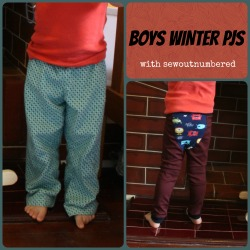 sewing boys winter pj pants