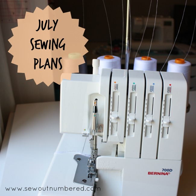 july sewing plans