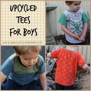 Sewing wardrobe staples: upcycled tees for boys