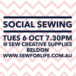 For the perthsewcialists Social sewing is this Tuesday night Seehellip
