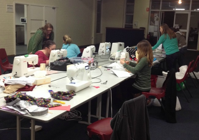 sewing night photo