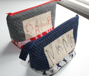 Sewing the personal touch: zippered pouches