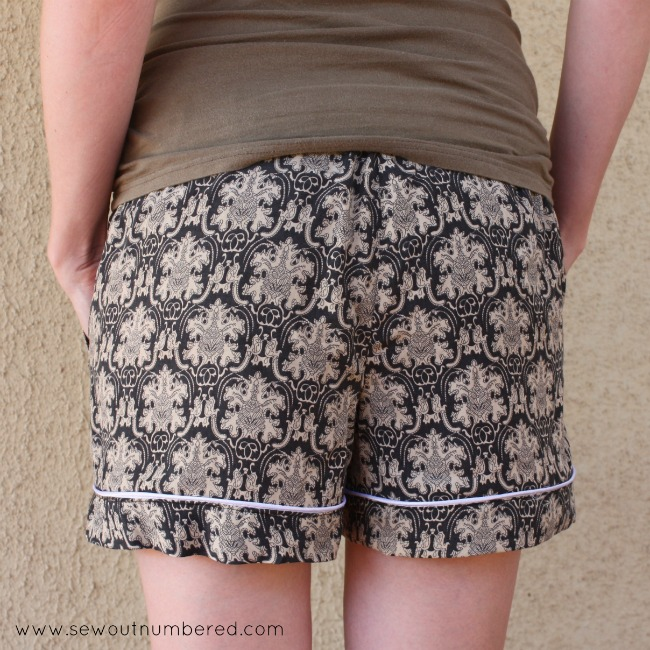 carolyn pj shorts back