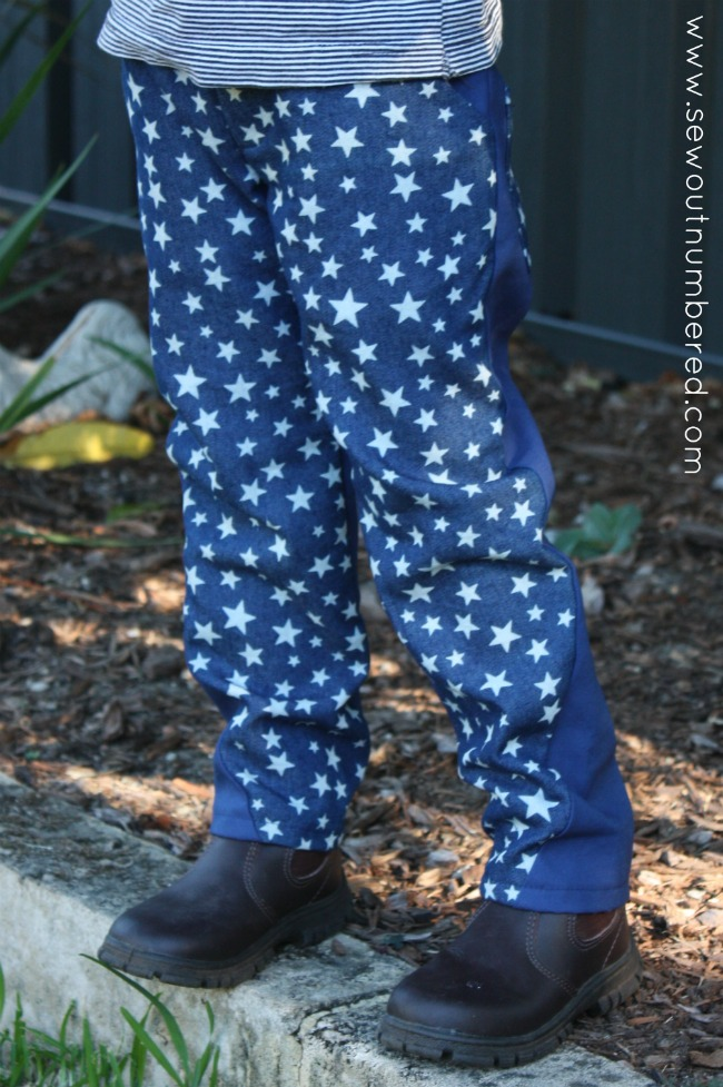 twisted trousers stars front