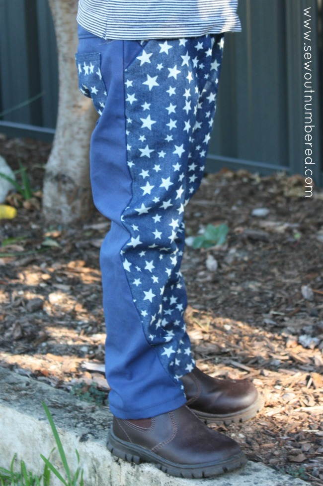 twisted trousers stars side