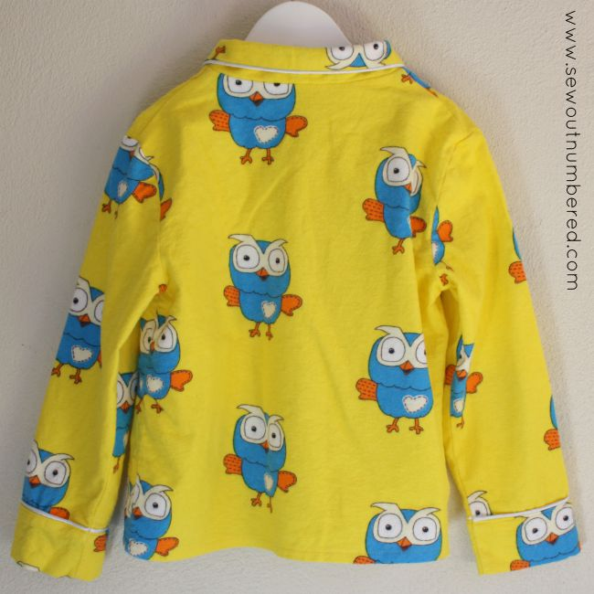hoot pajamas top back
