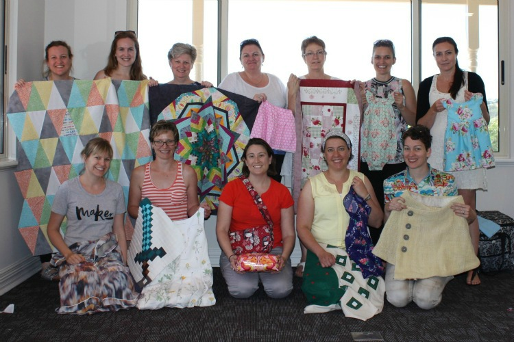 sewing retreat 2015 group photo