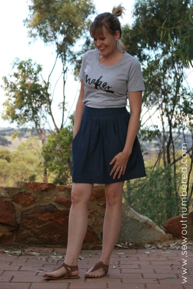 brumby skirt front full length