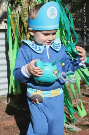 Sewing a captain barnacles costume